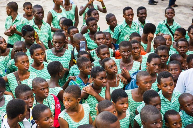Mensen in GHANA stock afbeeldingen