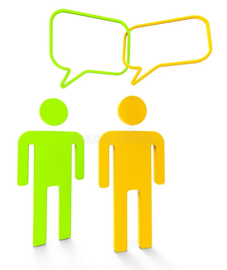Mensen het Communiceren toont Sprekende Personen en Mededeling royalty-vrije illustratie