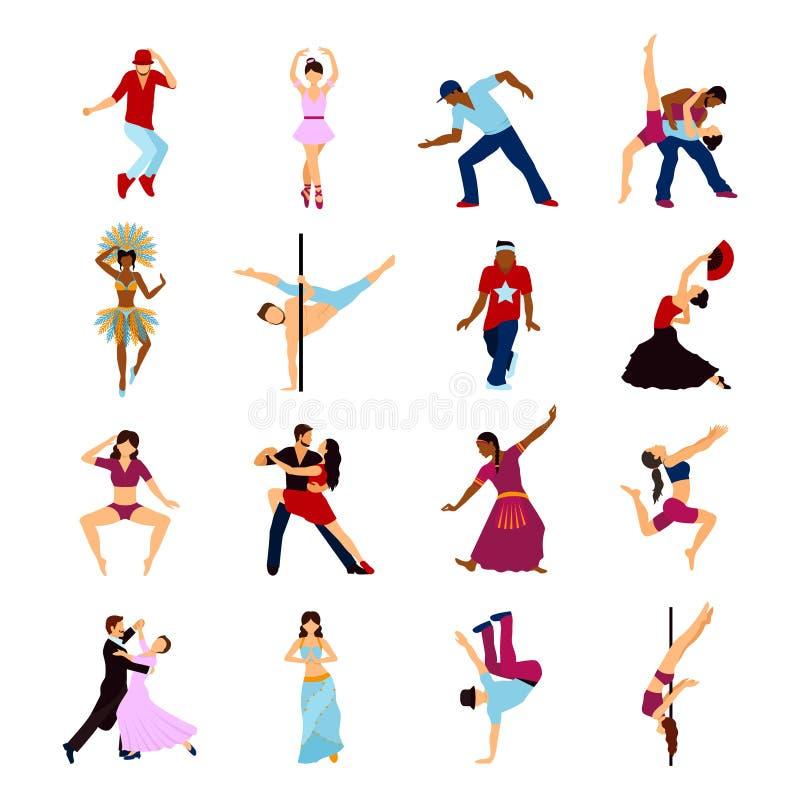 Mensen het Dansen Reeks royalty-vrije illustratie