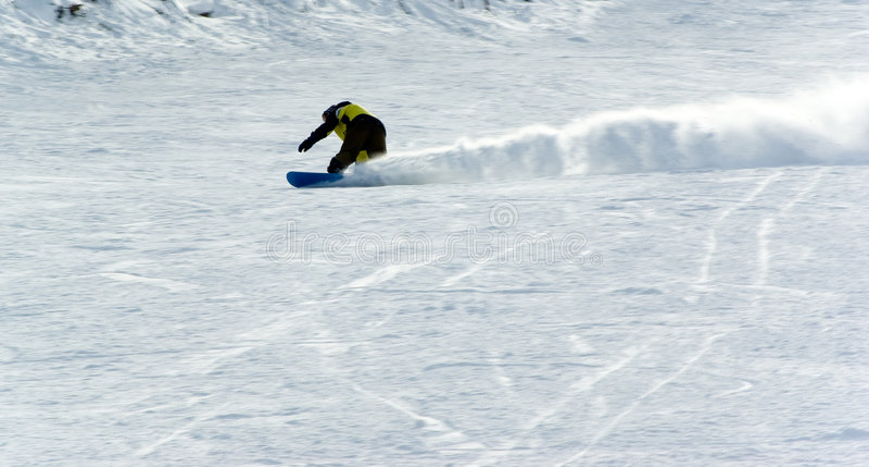 Mensen het extreme snowboard berijden royalty-vrije stock fotografie