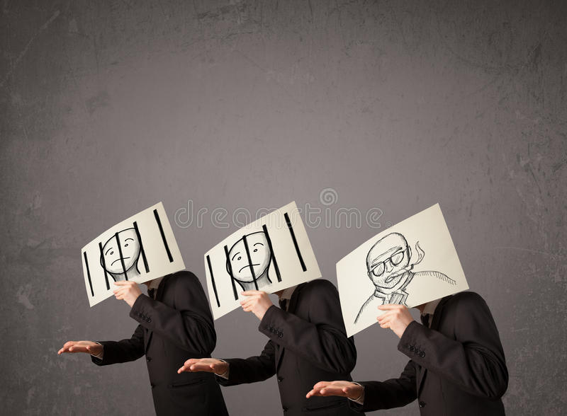 Download Mensen In Het Formele Gesturing Met Karton Stock Afbeelding - Afbeelding bestaande uit gezicht, kerel: 39101649