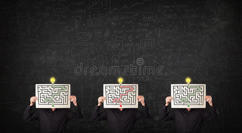 Download Mensen In Het Formele Gesturing Met Labyrint Stock Afbeelding - Afbeelding bestaande uit menselijk, formeel: 39100947