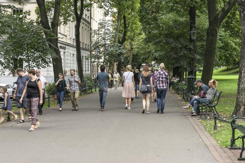 Mensen in het park royalty-vrije stock foto