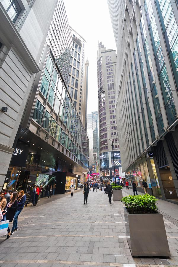 Mensen in Hong Kong City royalty-vrije stock afbeelding