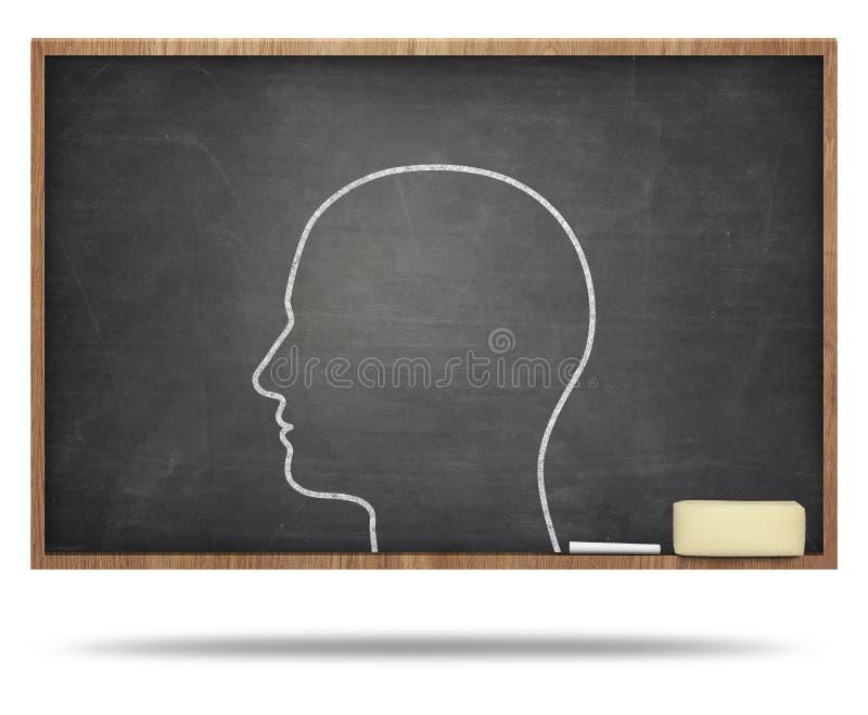 Mensen hoofdconcept op bord royalty-vrije illustratie