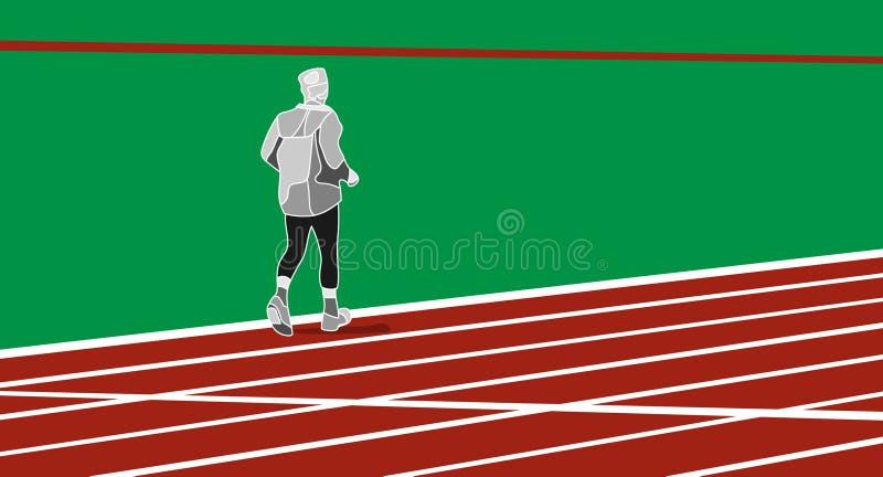 Mensen lopende illustratie vector illustratie