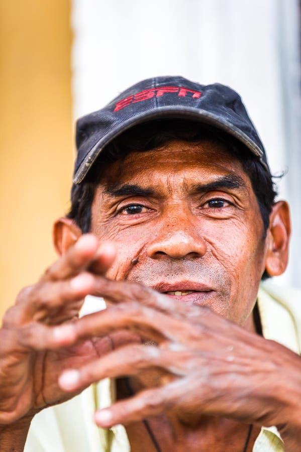 Mensen in MANAGUA, NICARAGUA royalty-vrije stock foto