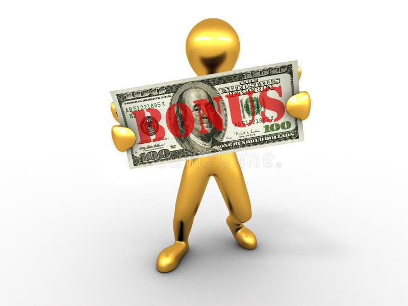 Mensen met dollar. bonus vector illustratie