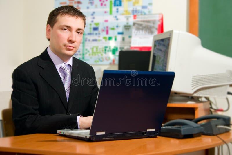 Mensen met laptop royalty-vrije stock afbeeldingen