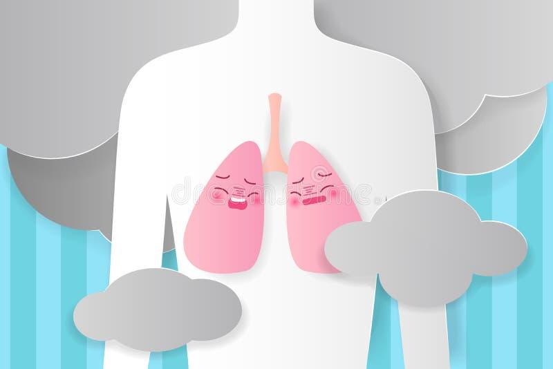 Mensen met long gezond concept vector illustratie