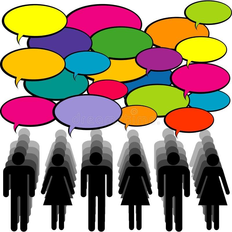 Mensen met toespraakbellen Communicatie concept royalty-vrije illustratie