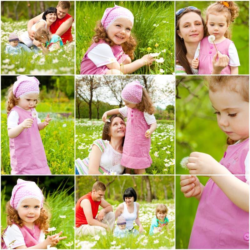 Mensen met witte bloemen royalty-vrije stock afbeelding