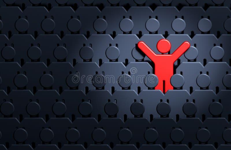 Mensen onder menigte van mensen vector illustratie