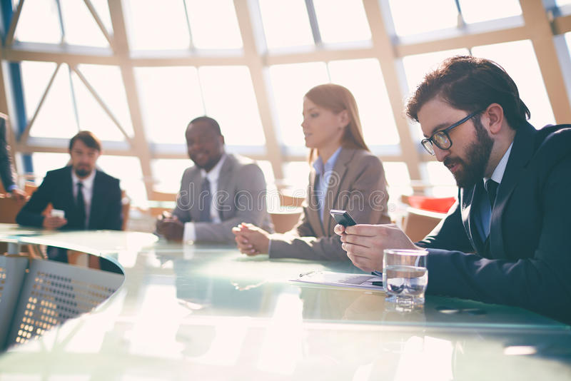 Mensen op conferentie stock foto