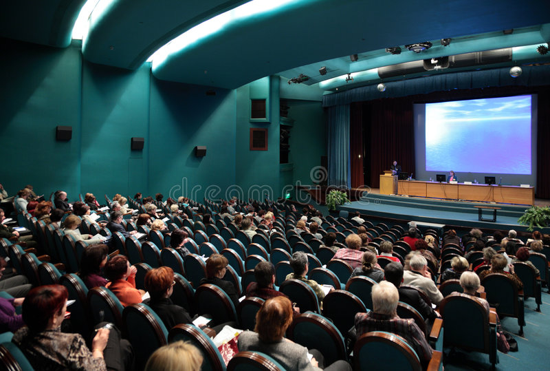 Mensen op conferentie royalty-vrije stock afbeeldingen