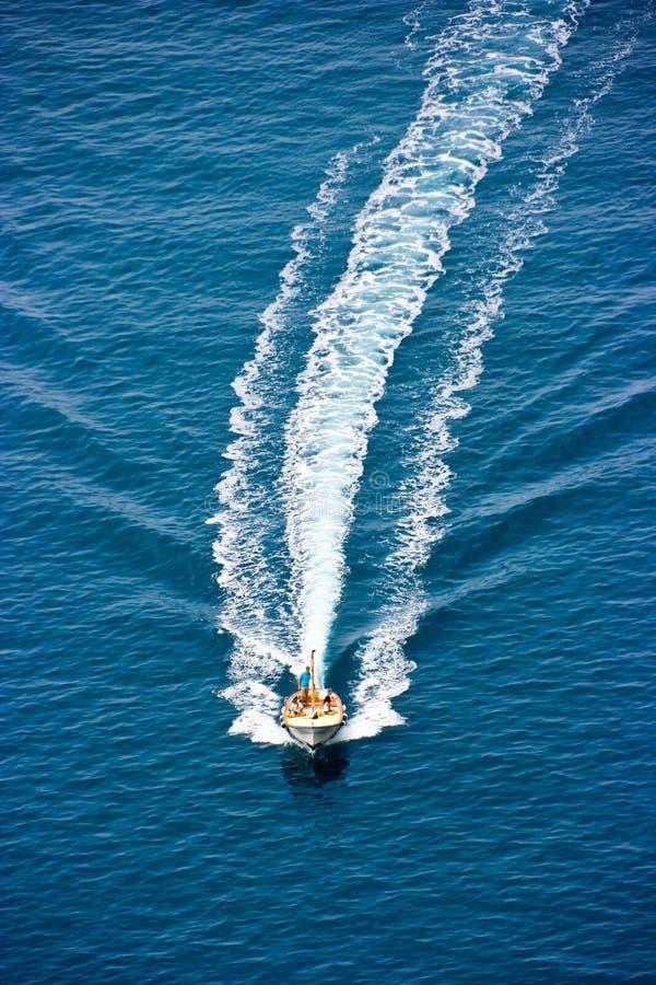 Mensen op de boot stock foto