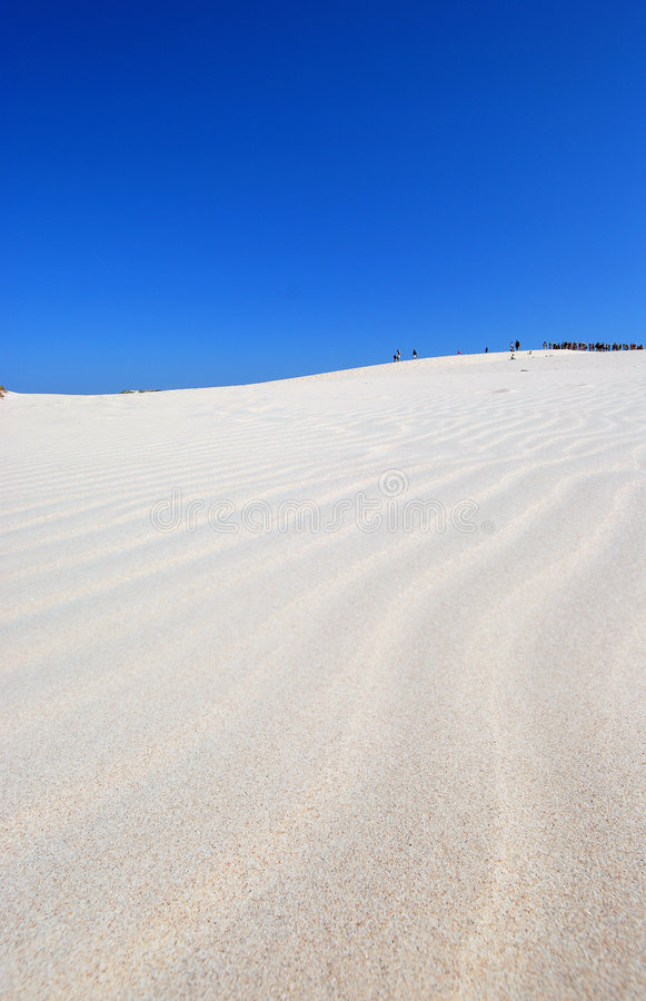 mensen op de woestijn stock afbeelding