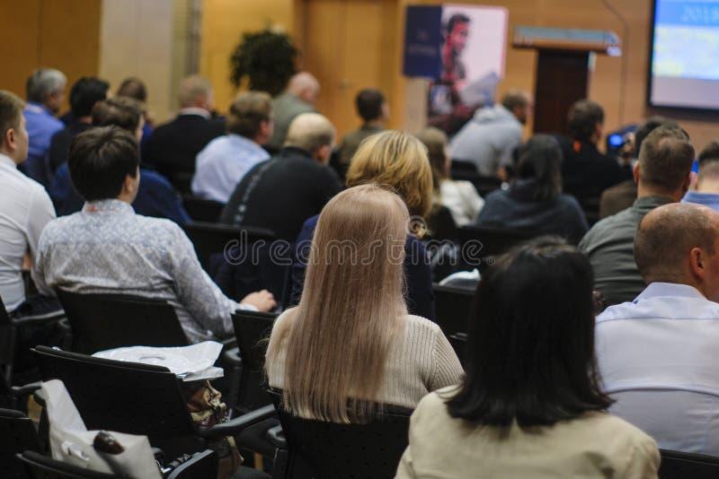 Mensen op een conferentie stock fotografie