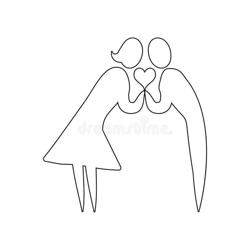 mensen op zoek naar liefdepictogram Element van valentijnskaart ?s dag, huwelijk voor mobiel concept en webtoepassingenpictogram  stock illustratie