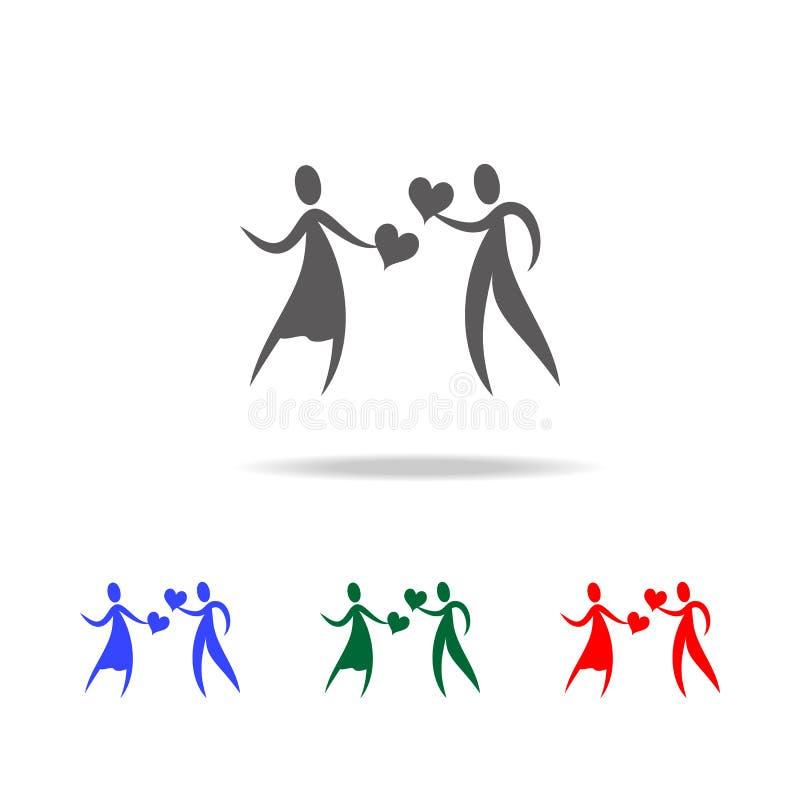 mensen op zoek naar liefdepictogram Elementen van de Dag van Valentine \ 's in multi gekleurde pictogrammen Grafisch het ontwerpp royalty-vrije illustratie