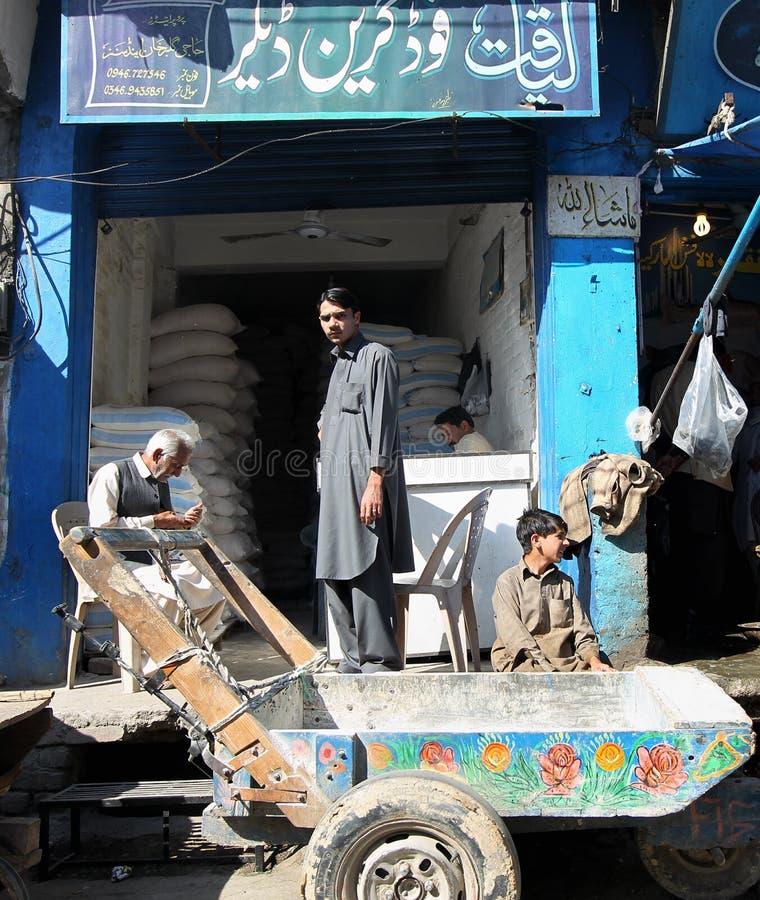 Mensen in Pakistan - het dagelijks leven royalty-vrije stock fotografie