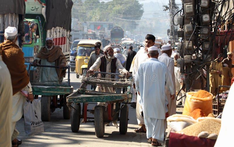 Mensen in Pakistan - het dagelijks leven stock foto