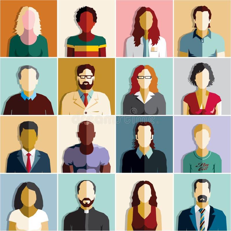 Mensen Pictogrammen de bedrijfs van Mensen royalty-vrije illustratie