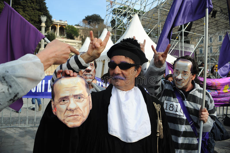 Mensen in Purple (Altviool Popolo) stock afbeelding