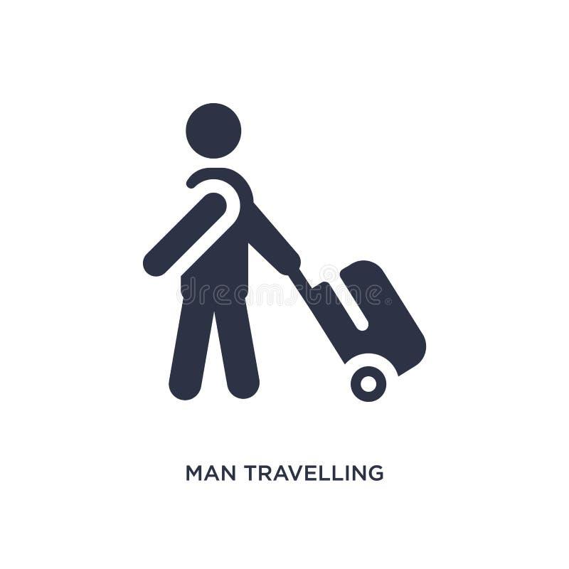 mensen reizend pictogram op witte achtergrond Eenvoudige elementenillustratie van gedragsconcept vector illustratie