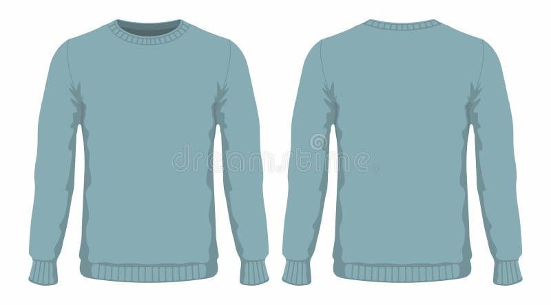 Mensen` s blauwe sweater vector illustratie