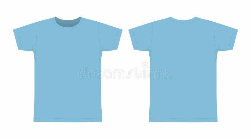 Mensen` s blauwe t-shirt stock illustratie