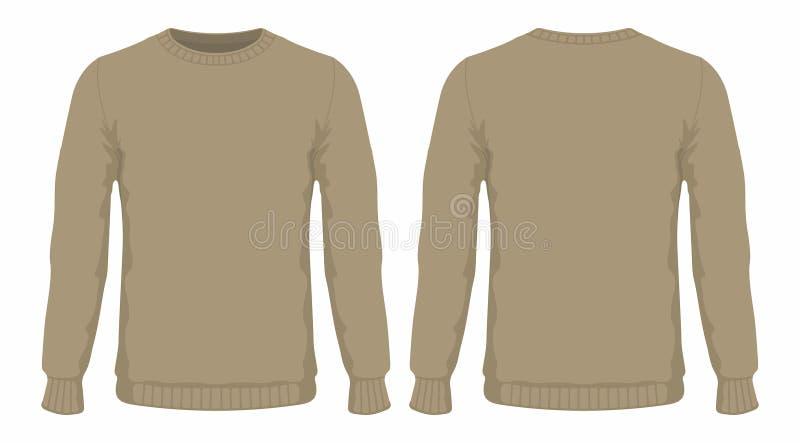 Mensen` s bruine sweater stock illustratie