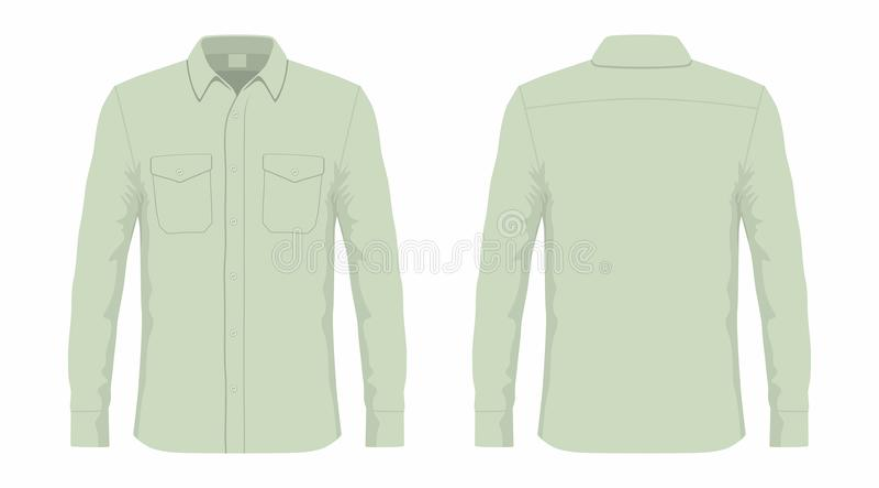 Mensen` s groen overhemd royalty-vrije illustratie