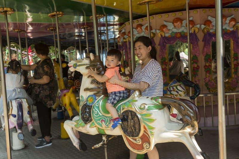 Mensen` s Park in Shanghai, China royalty-vrije stock foto's