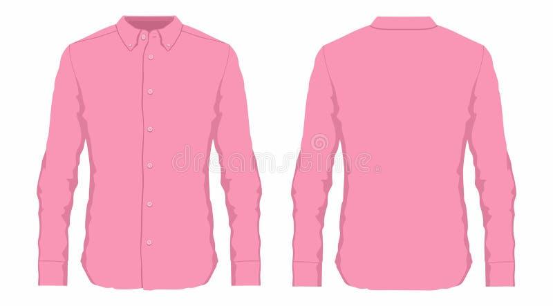 Mensen` s roze overhemd vector illustratie
