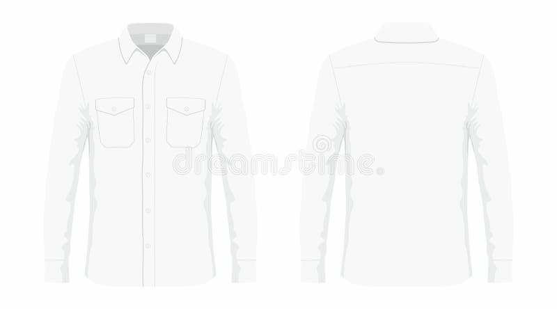 Mensen` s wit overhemd royalty-vrije illustratie