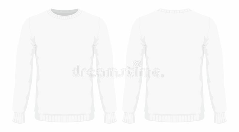 Mensen` s witte sweater stock illustratie