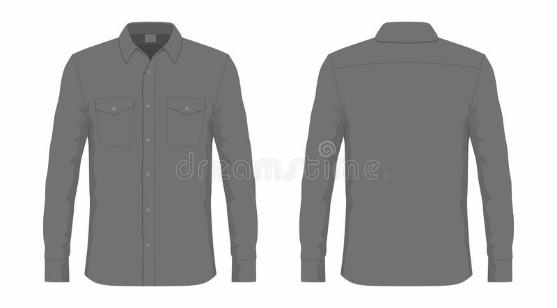 Mensen` s zwart overhemd royalty-vrije illustratie