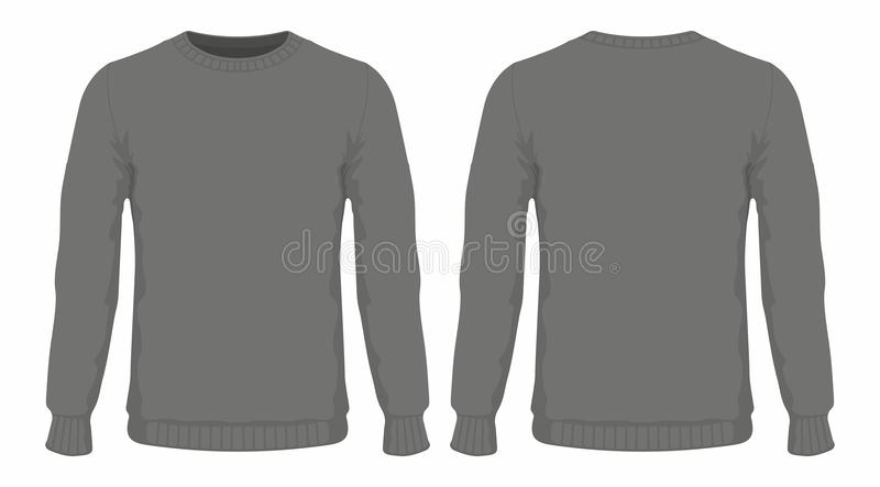 Mensen` s zwarte sweater royalty-vrije illustratie