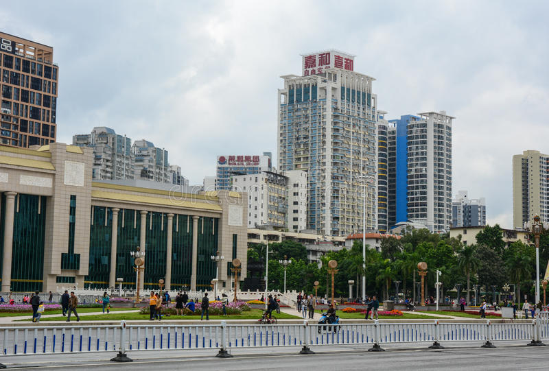 Mensen in Shanghai, China royalty-vrije stock foto's
