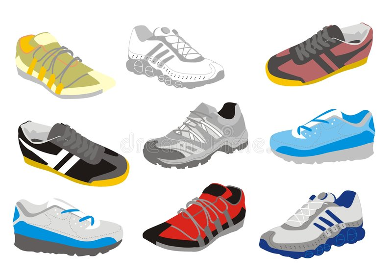 mensen shoes utbildning royaltyfri illustrationer