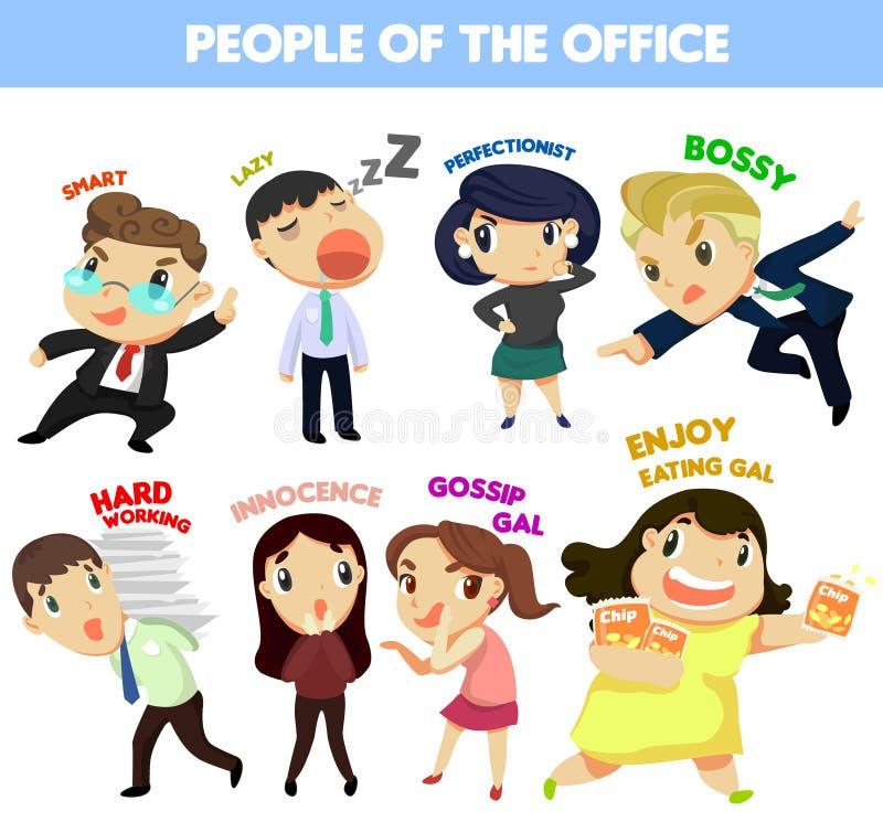 Mensen van het bureau royalty-vrije illustratie