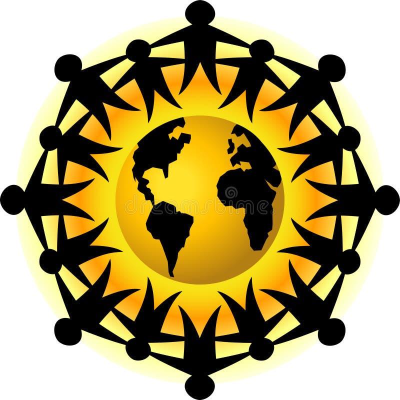 Mensen van het Groepswerk van de Aarde/eps stock illustratie