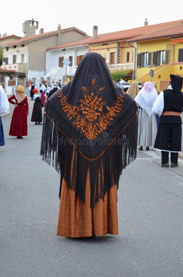 Mensen van Sardinige stock afbeelding
