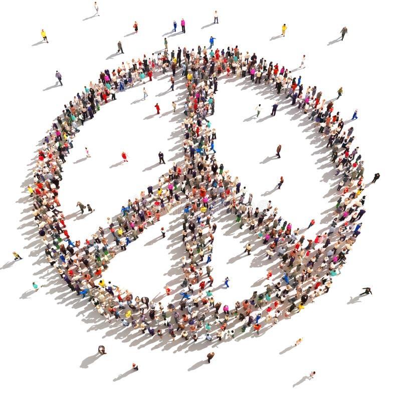 Mensen van vrede royalty-vrije illustratie