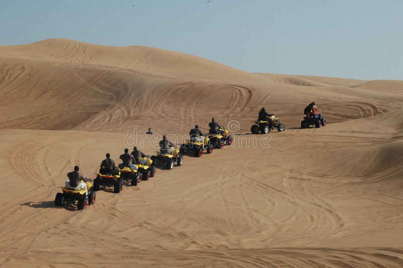 Mensen van Woestijn royalty-vrije stock afbeeldingen