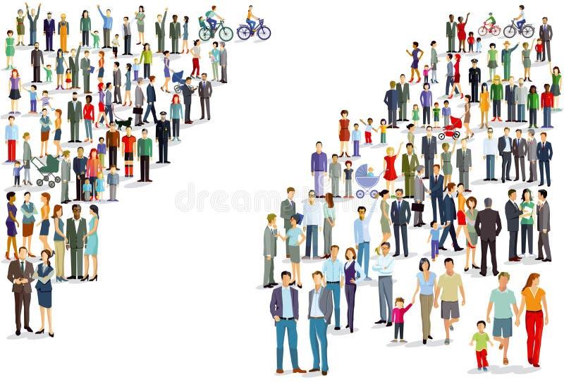 Mensen verdeelde illustratie vector illustratie