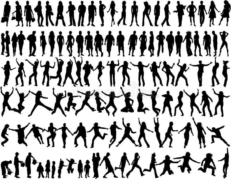 Mensen in verschillende situaties royalty-vrije illustratie