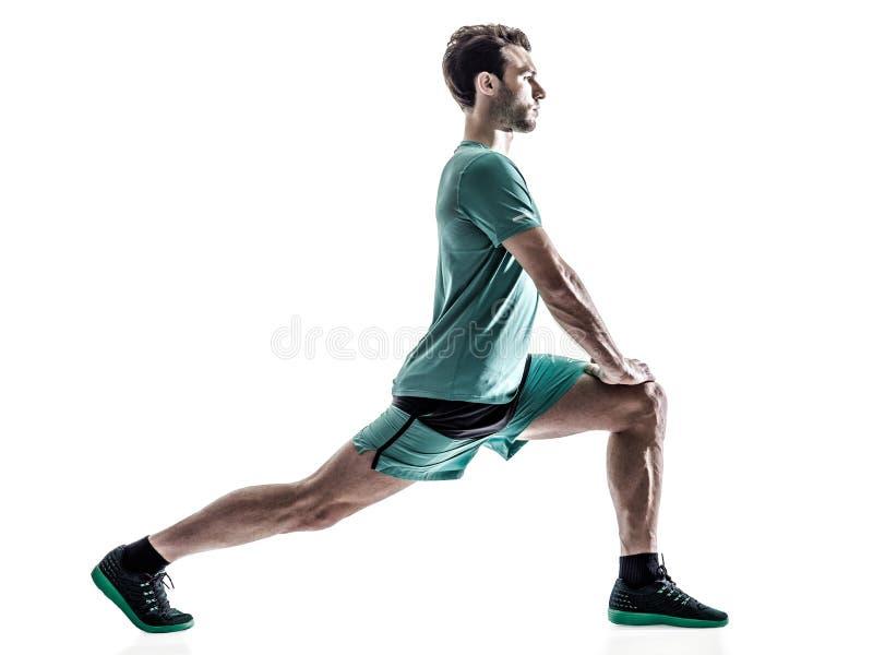 Mensenagent jogger geïsoleerd lopen stock afbeelding