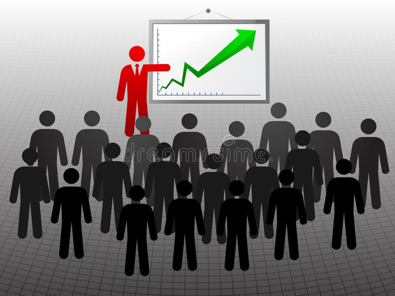 Mensencijfer opleiding stock illustratie